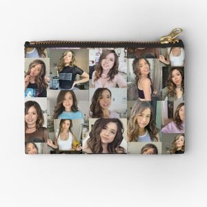 Pokimane Collage Artwork Zipper Pouch RB2205 product Offical Pokimane Merch