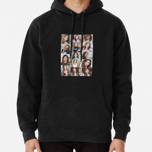 Pokimane Collage Artwork Pullover Hoodie RB2205 product Offical Pokimane Merch