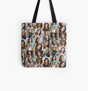 Pokimane Collage Artwork All Over Print Tote Bag RB2205 product Offical Pokimane Merch