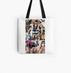 Pokimane Collage All Over Print Tote Bag RB2205 product Offical Pokimane Merch