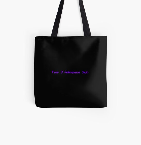 Funny Teir 3 Pokimane Sub meme design All Over Print Tote Bag RB2205 product Offical Pokimane Merch