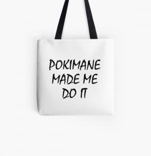 POKIMANE MADE ME DO IT All Over Print Tote Bag RB2205 product Offical Pokimane Merch