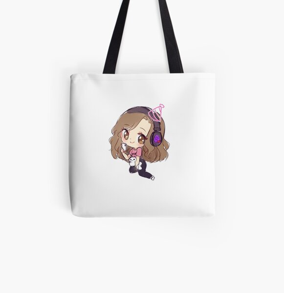 Pokimane Gaming All Over Print Tote Bag RB2205 product Offical Pokimane Merch