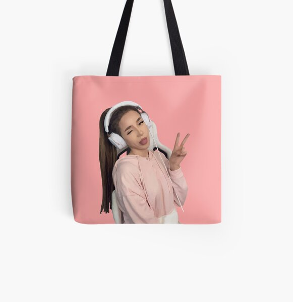 pokimane - pokimanelol Fan Gift All Over Print Tote Bag RB2205 product Offical Pokimane Merch