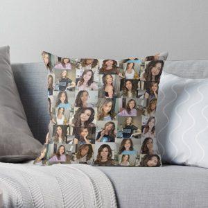 Pokimane Collage Artwork Throw Pillow RB2205 product Offical Pokimane Merch