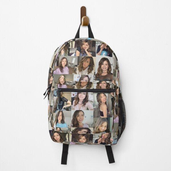 Pokimane Collage Artwork Backpack RB2205 product Offical Pokimane Merch