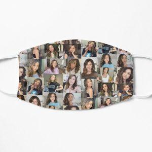Pokimane Collage Artwork Flat Mask RB2205 product Offical Pokimane Merch