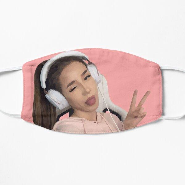 pokimane - pokimanelol Fan Gift Flat Mask RB2205 product Offical Pokimane Merch